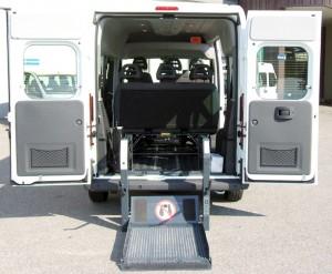 Fiat Ducato Combinato - Pedana elettro idraulica doppio braccio interna