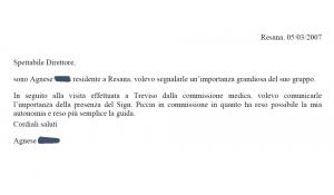 Scardellato - Piccin - Testimonianza di Agnese